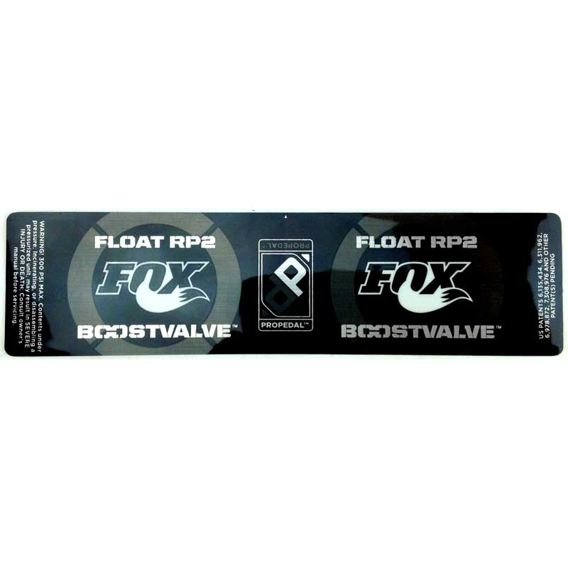 Fox Shox replacement stickers/decals part number024-02-318