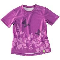 Cannondale 2014 Girls Tech Tee Purple Print  - 2K106/PRP