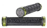 Cannondale DC Dual Lock-On Grips Black/Green Rings CU4191OS01