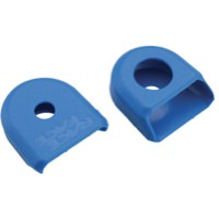 Race Face Medium Crank Boots, Fit Hollowgram Arms 2-Pack Blue
