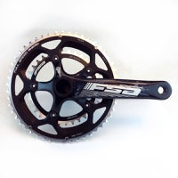FSA Gossamer BB30A Compact Crankset, 50/34t, 172.5mm, 10/11 speed chainrings