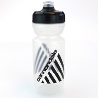 Cannondale Retro Vintage Cycling Water Bottle Clear/Black 600ml