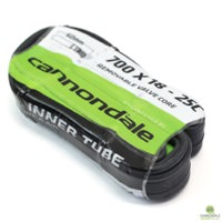 Cannondale 700c x 18 - 25c w/ 60mm Presta - Black Smooth w/ Removable Core Valve Bicycle Inner Tube Single