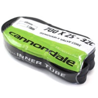 Cannondale 700c x 25 - 32c w/ 48mm Presta - Black Smooth w/ Removable Core Valve Bicycle Inner Tube Single