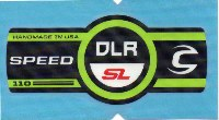 Cannondale Speed DLR SL 110 Band Decal/Sticker Green, black, white, red