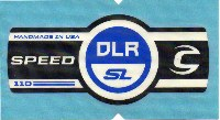 Cannondale Lefty Speed DLR SL 110 Band Decal/Sticker Black, white, blue