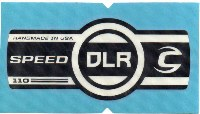Cannondale Lefty Speed DLR 110 Band Decal/Sticker Black + white