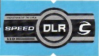 Cannondale Lefty Speed DLR 110 Band Decal/Sticker Black, white, silver