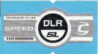 Cannondale Lefty Speed DLR SL 110 Band Decal/Sticker Black, white, silver
