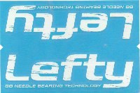 Cannondale Lefty Distressed Wrap Decal/Sticker White