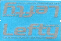 Cannondale Lefty Carbon Wrap Decal/Sticker Grey