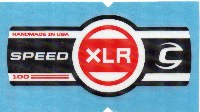 Cannondale Lefty Speed XLR 100 Band Decal/Sticker Black, white, red