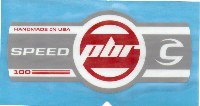Cannondale Lefty Speed PBR 100 Band Decal/Sticker White, grey, red