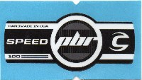 Cannondale Lefty Speed PBR 100 Band Decal/Sticker Black, white, grey