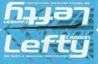 Cannondale Lefty Carbon Wrap Decal/Sticker Black + white