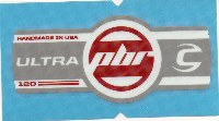 Cannondale Lefty Ultra PBR 120 Band Decal/Sticker White, silver, red