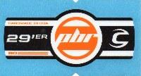 Cannondale Lefty PBR 90 29 Band Decal/Sticker Black, white, orange
