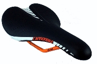 Cannondale All Mountain Bike Saddle - Black with White/Orange