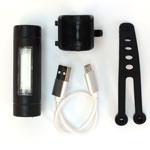 Fabric USB Rear Rechargeable Bike Light - Black