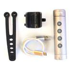 Fabric USB 300 Rechargeable Bike Head Light - Silver