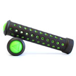 Fabric Slim Bike Grips - Black/Green