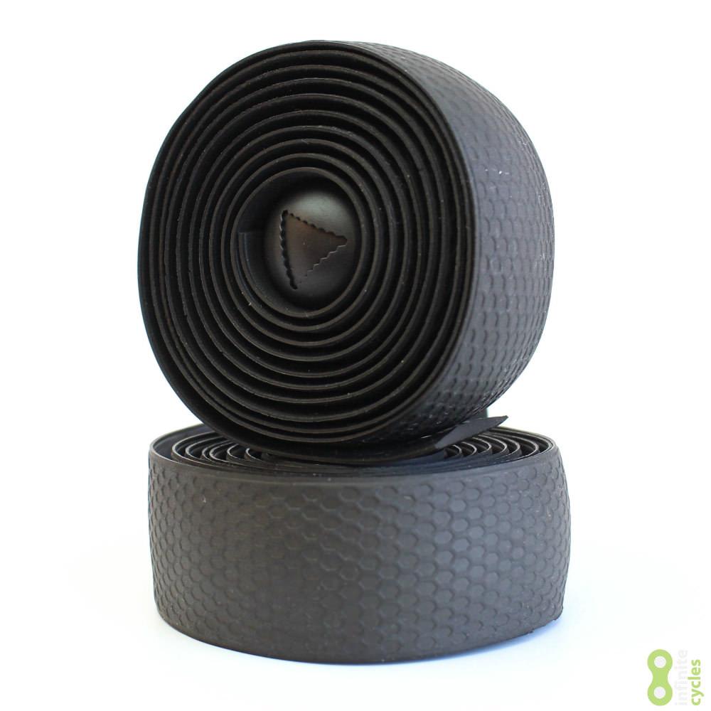 Fabric Silicone Road Bike Handlebar Tape Black