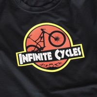 Infinite Cycles Jurassic Bike T-Shirt Black