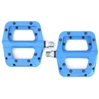 Race Face Chester Composite Flat Platform Blue Pinned Sealed Pedals 9/16