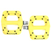 Race Face Chester Composite Flat Platform Yellow Pinned Sealed Pedals 9/16
