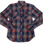 Sombrio Vagabond Riding Shirt Dark Stone Plaid
