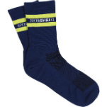 Sombrio Superchamps Socks Dark Night/Lime Mojito