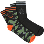 Sombrio Smash Socks Black/Black Camo