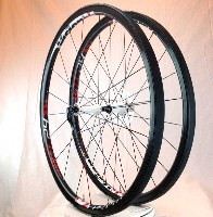 Vision 2013 TC24 Carbon Tubular Road Wheelset w/ Schwalbe Ultremo HT White Hub New Take Off