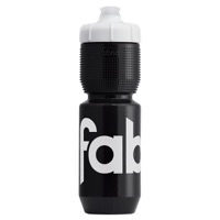 Fabric Gripper Insulated Cycling Water Bottle 650ml Black + White FP5309U4065