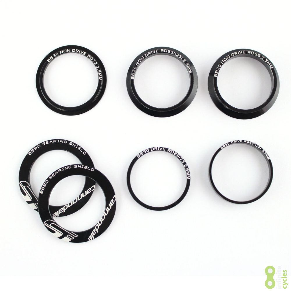 Cannondale Hollowgram Crank Spindle Spacer Set - Complete Road Set - KP483/