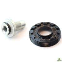 Cannondale Lefty 50 Hub Axle Cap And Bolt - Black - QC117/